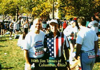 Peter McFadden with Jim Tornes at the New York City Marathon